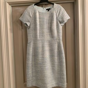 J. Crew pale blue tweed dress